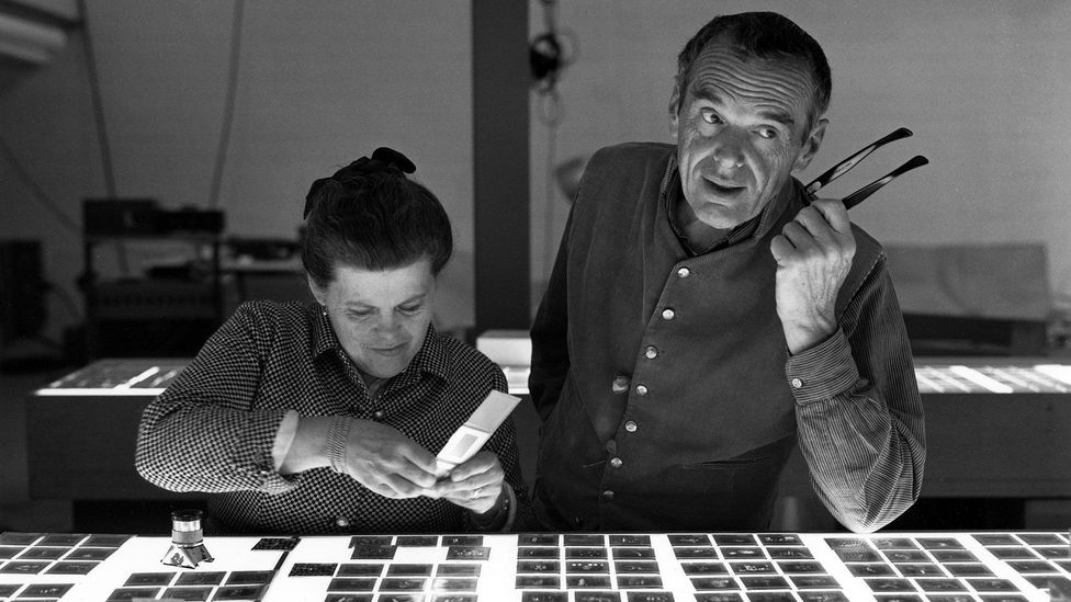 Charles and Ray Eames married in 1941, and worked together for the next 37 years. (Credit: Eames Office LLC)