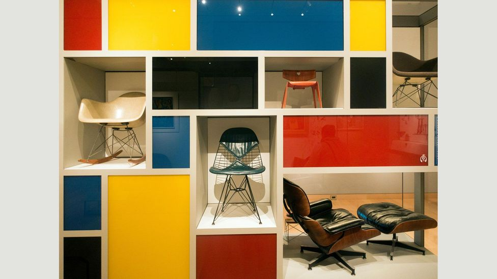 The couple collaborated with furniture makers Herman Miller and Vitra to create iconic designs such as the RAR chair on rockers and the Eames Lounge Chair (Credit: Alamy)