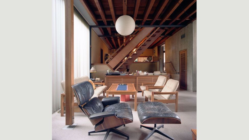"""Designed in 1956, the Eames Lounge Chair is now an icon of modern design – but Ray described it in a letter to Charles as """"comfortable and un-designy"""" (Credit: Eames Office LLC)"""