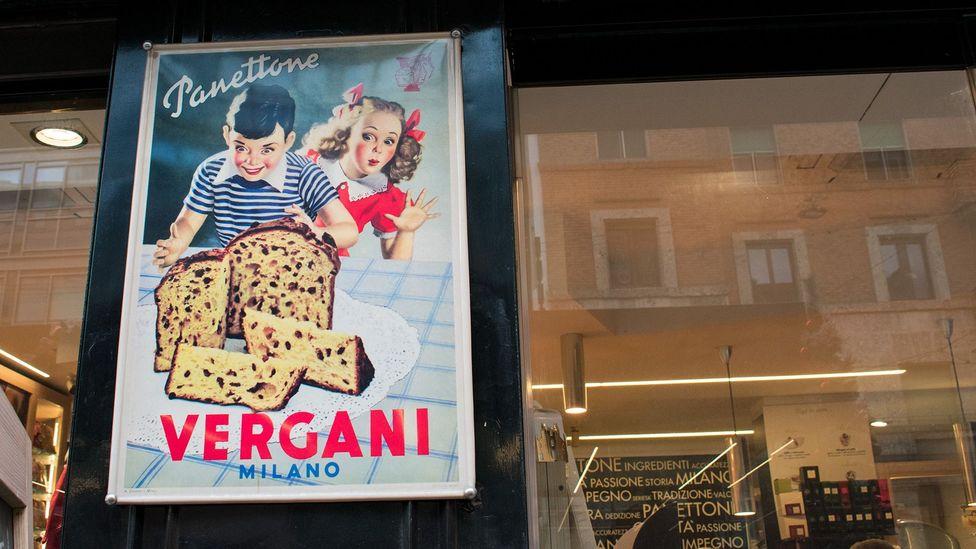Vergani panettone Milan poster (Credit: Amanda Ruggeri)