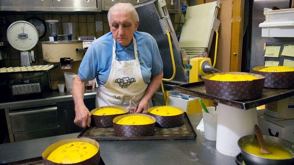 Angelo Polenghi making panettone (Credit: Amanda Ruggeri)