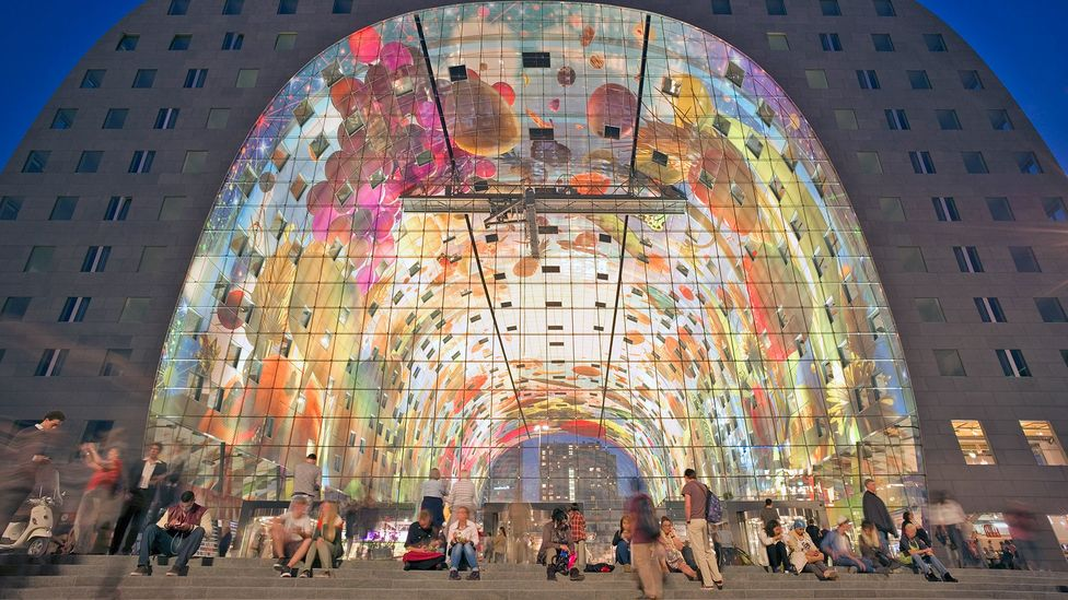 The shape of Rotterdam's Markthal is simple but utterly unique (Credit: EschCollection/Getty Images)