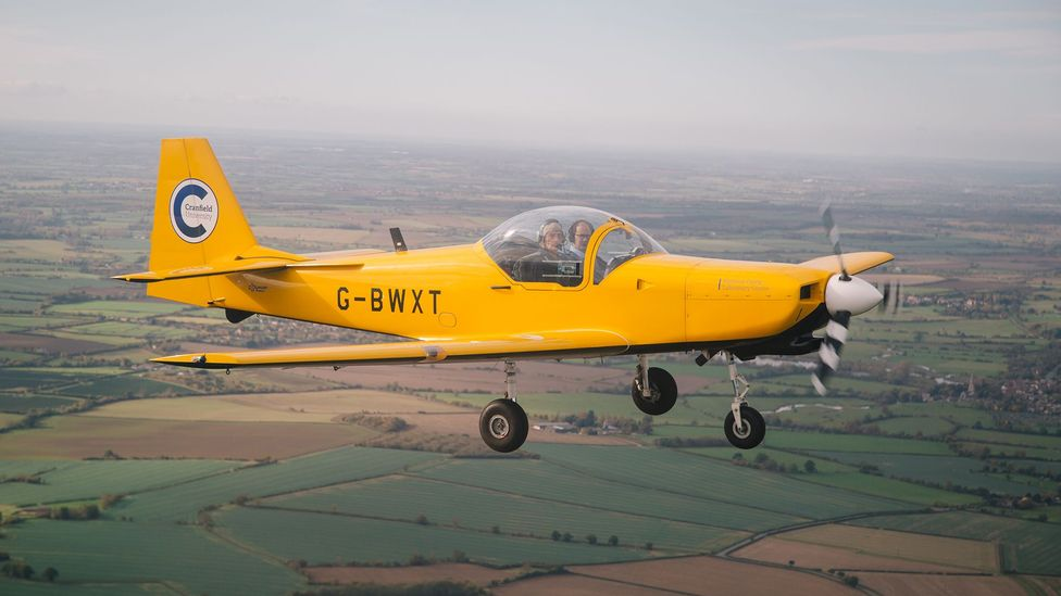 The university has its own fleet of aircraft, like this Firefly trainer (Credit: Cranfield University)