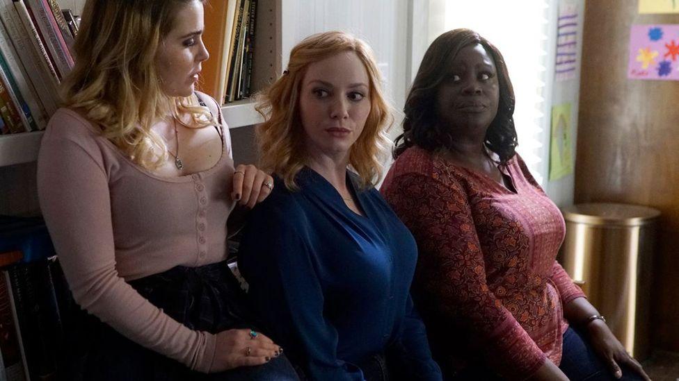Mae Whitman, Christina Hendricks and Retta in Good Girls (Credit: NBC)