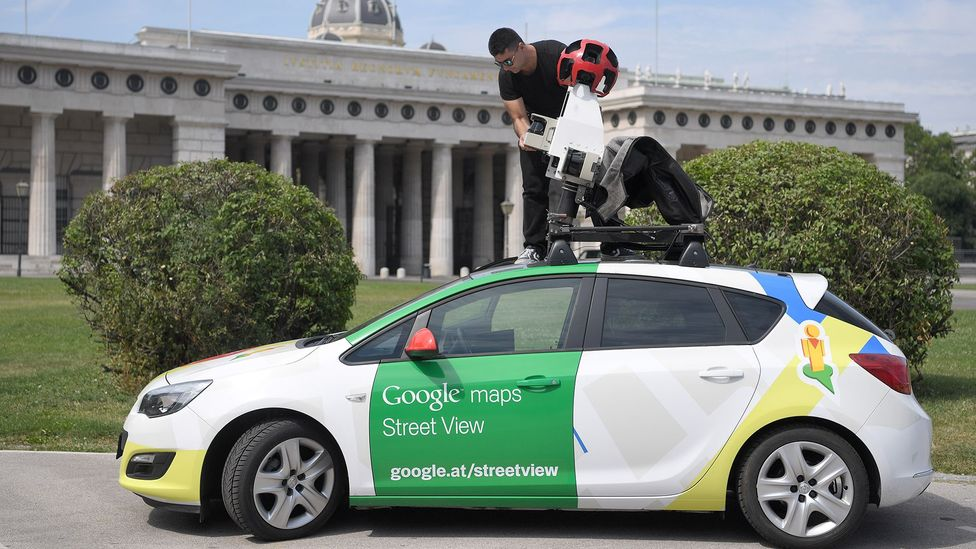 A Google Street View car in Vienna in July 2017 (Credit: Getty Images)