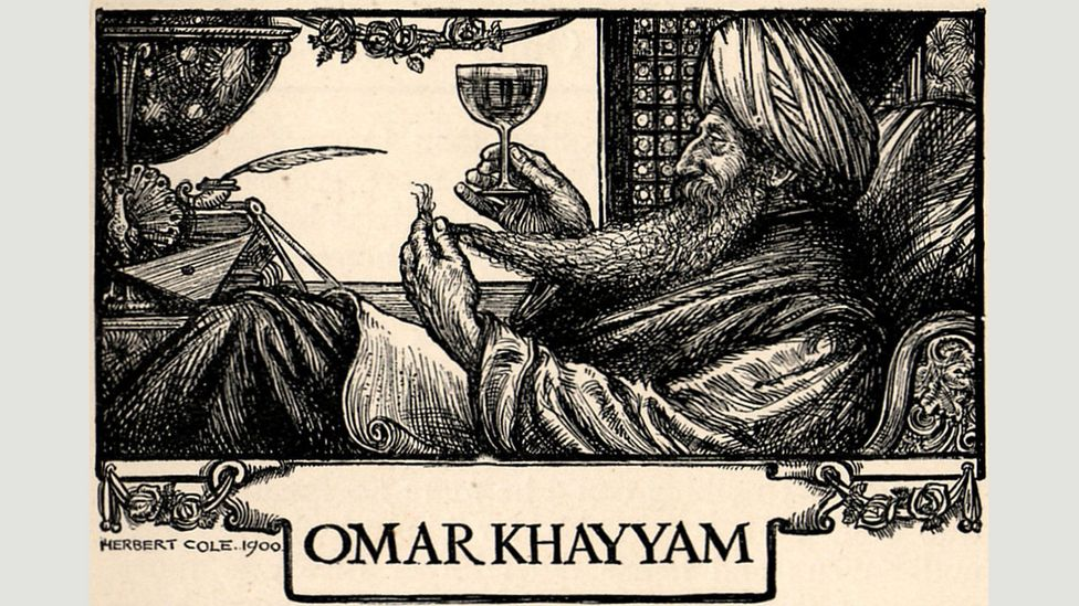 In the years leading up to World War One, there was a cult of Omár Khayyám: dining clubs, tooth powder and playing cards were branded with his name (Credit: Alamy)