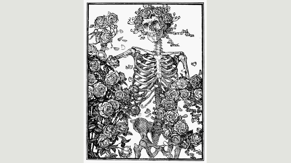 One of Edmund Joseph Sullivan's illustrations for the Rubaiyat was used on the cover of the Grateful Dead's self-titled 1971 album (Credit: Alamy)