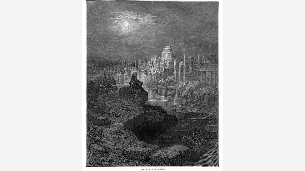 Gustave Doré's 1872 etching The New Zealander showed a future tourist gazing over the ruins of London (Credit: Alamy)