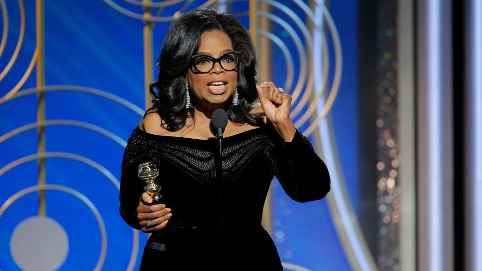 Some political commentators think it may take a mega-star –  such as Oprah Winfrey – to pose a serious challenge to a mega-star like Trump (Credit: Getty)