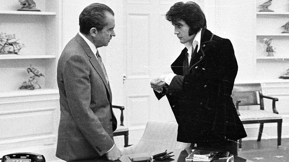 Other presidents have at least made a nod towards popular culture, such as when Nixon hosted Elvis at the White House (Credit: Getty)