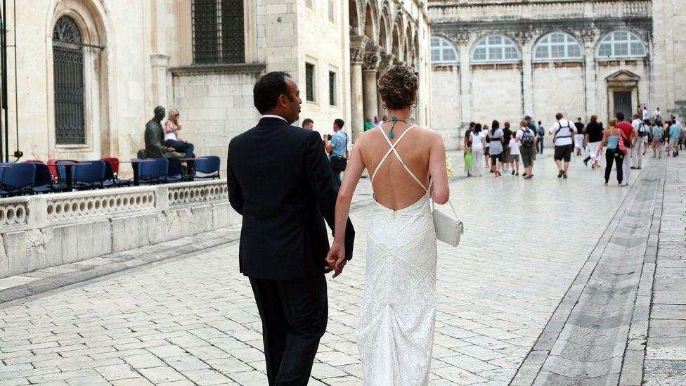 """Kristin Vuković: """"We were wed two years later in Dubrovnik"""" (Credit: Kathy Vukovic)"""