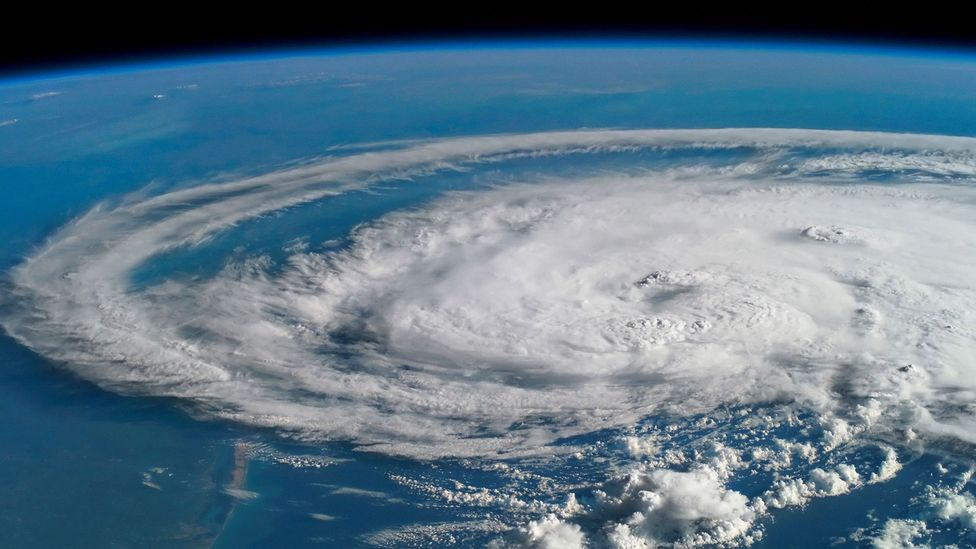 Hurricane viewed from space (Credit: Alamy)