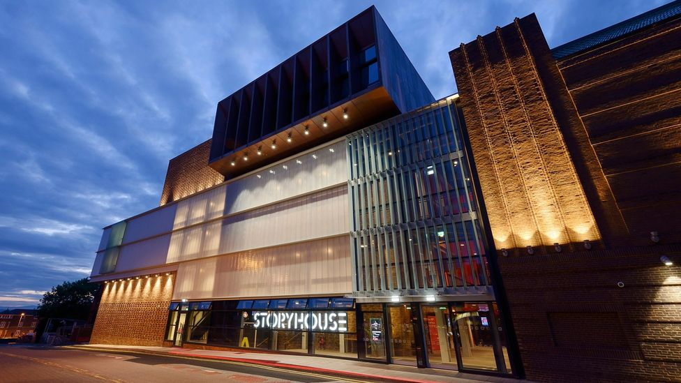 Storyhouse arts venue in Chester, UK, is an extension of a remodelled 1930s cinema, and was designed by Bennetts Associates (Credit: Getty Images)