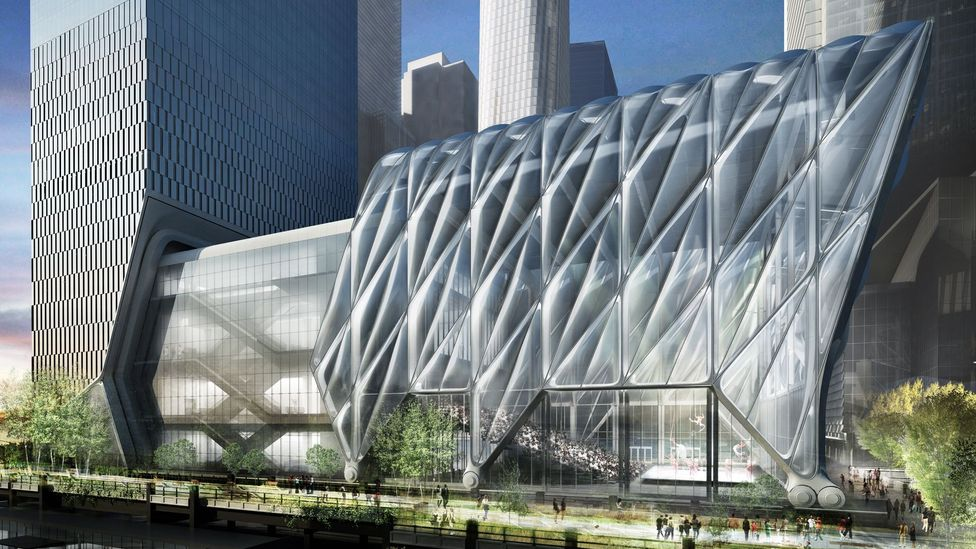 The Shed in New York, which is due to open next year, will be encased by a telescopic structure (Credit: Diller Scofidio + Renfro / Rockwell Group)