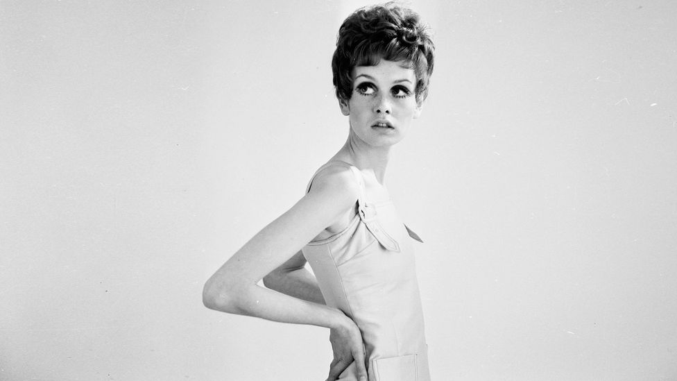 The waifish model Twiggy epitomised the androgynous look fashionable in the 1960s (Credit: Getty)