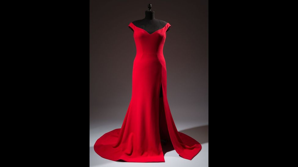 Designer Christian Siriano made a red gown for the actress Leslie Jones when she complained on Twitter that no label would dress her due to her size (Credit: The Museum at FIT)