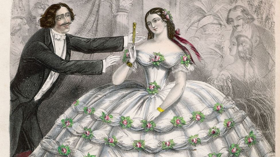 If a man could afford to dress his wife in crinoline – which required vast amounts of fabric – it would indicate substantial income (Credit: Alamy)