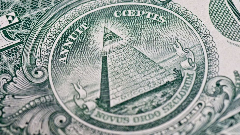 Conspiracy theorists say signs on the US dollar bill shows Illuminati influence (Credit: Alamy)