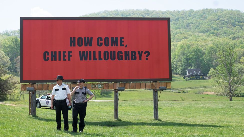 Three Billboards Outside Ebbing, Missouri won best drama at the Golden Globes and top cast at the Screen Actors Guild but has been the target of backlash (Credit: Fox Searchlight)