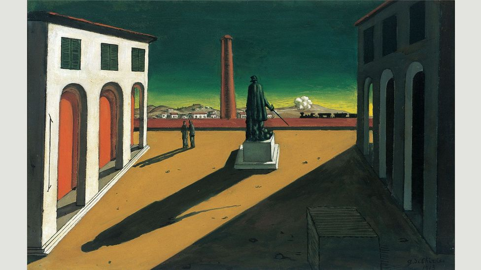 The architects drew inspiration from the geometric paintings of Giorgio de Chirico – his Piazza (1913) is shown here (Credit: Alamy)