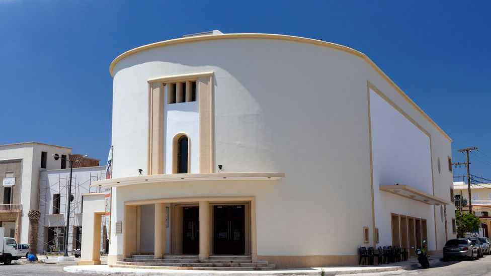 Lakki's theatre and cinema building displays the influence of Art Deco design on the town's architects (Credit: Alamy)