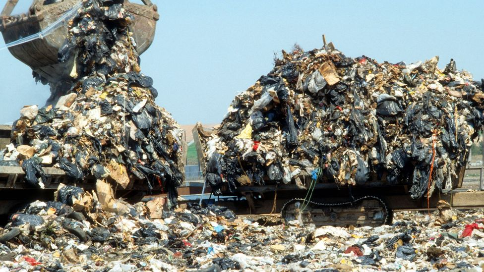 At its peak Fresh Kills landfill on Staten Island, New York, was receiving about 26,000 tonnes of junk every day (Credit: Alamy)
