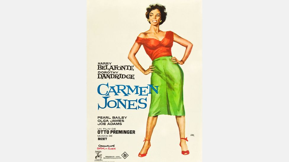 Carmen Jones, a 1954 musical starring Dorothy Dandridge and Harry Belafonte, is one of the many reworkings of the original story (Credit: Alamy)