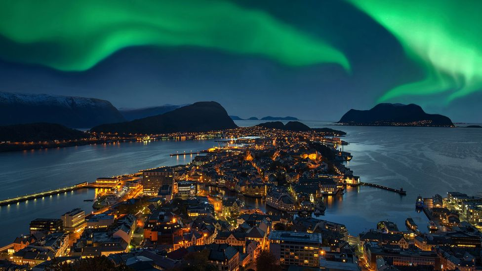 Polar lights can look dramatic from earth but are even more impresive from space, says Terry Virts (Credit: Getty Images)