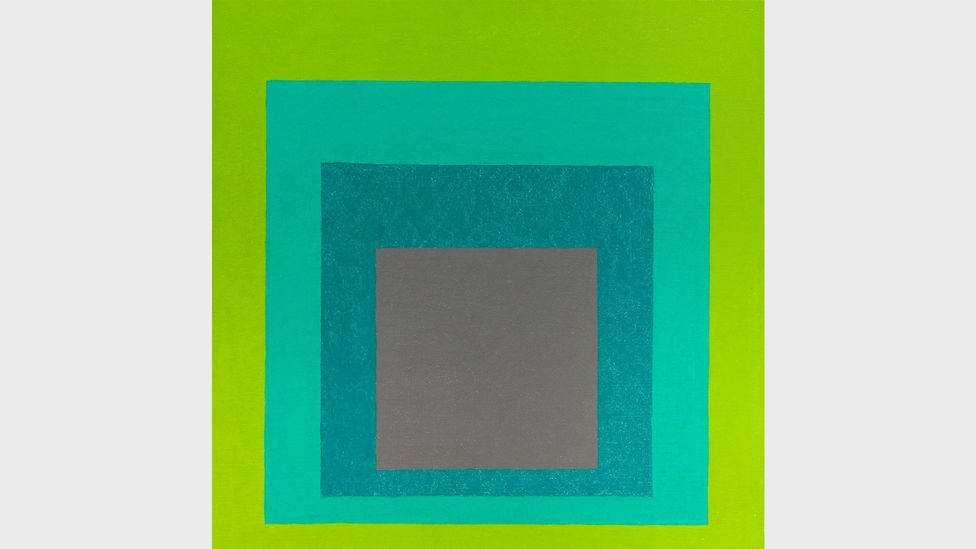 In 1963 the artist Josef Albers (his homage to the square is shown here) released his visual treatise, Interaction of Colour (Credit: Alamy)