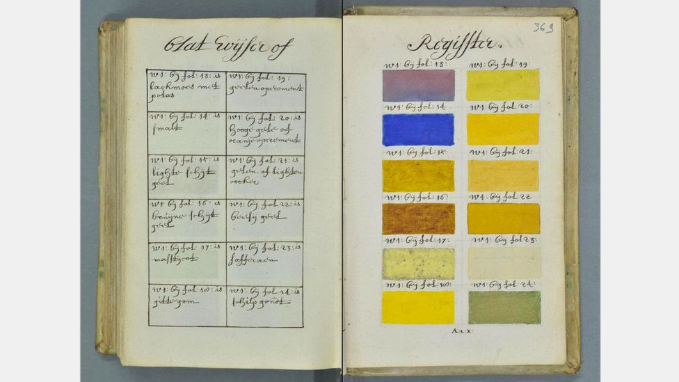 A 1692 book sought to illustrate every shade of watercolour possible – by hand (Credit: Aix-en-Provence, Bibliothèque municipale/Bibliothèque Méjanes)