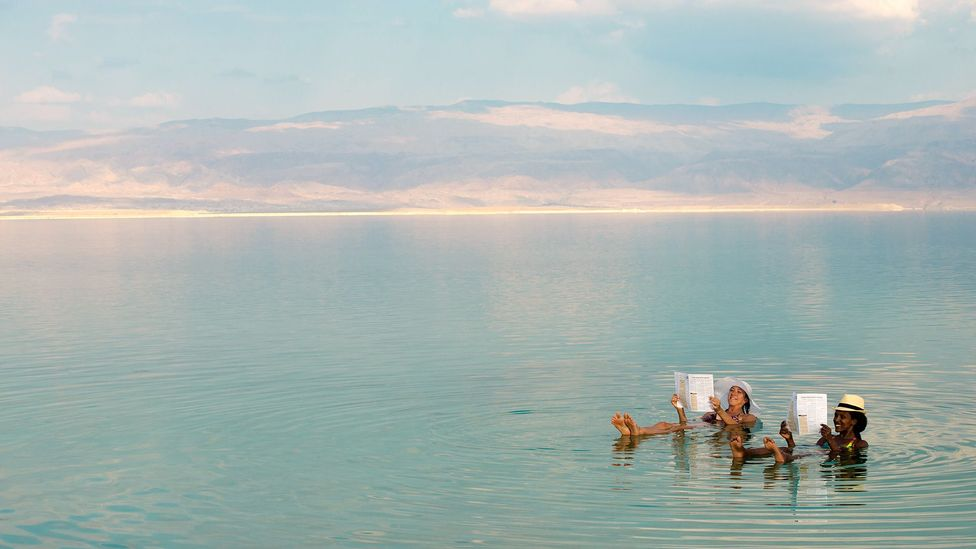Good for more than floating, the Dead Sea may be a good place to preserve your fossil (Credit: Getty)