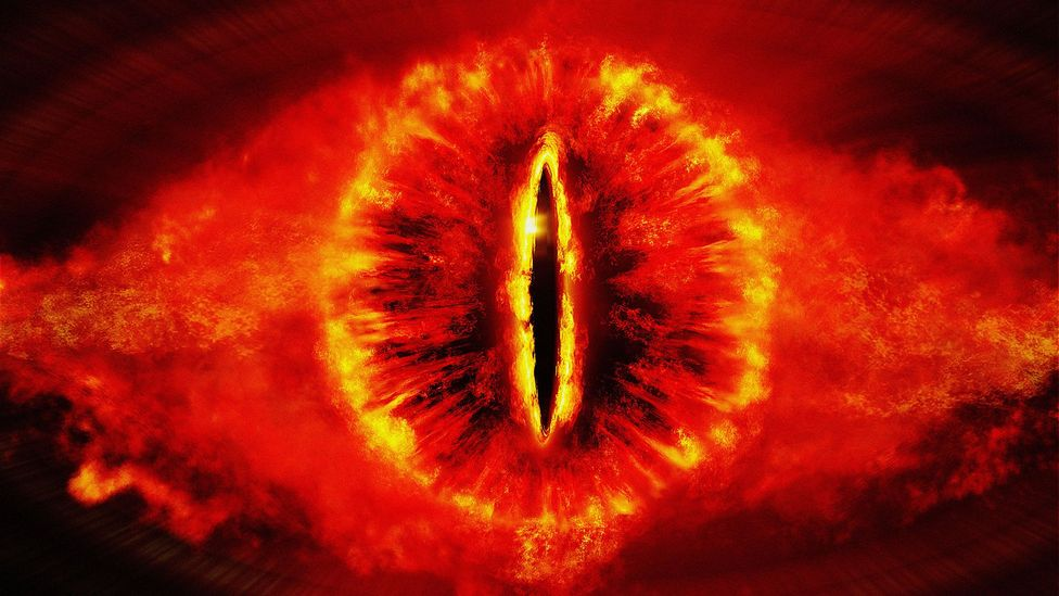 In The Lord of the Rings, the Dark Lord Sauron is a supreme intelligence that exists as a disembodied eye, holding all of Middle Earth under his gaze (Credit: Alamy)