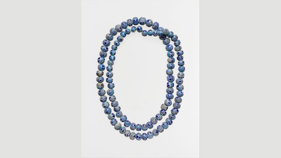 The ancient Phoenicians put eye symbols on beads they strung together as necklaces (Credit: Metropolitan Museum of Art)