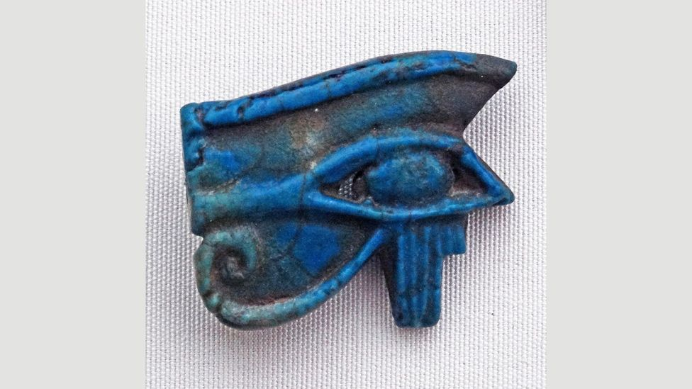 In ancient Egypt, the Eye of Horus, also known as a Wadjet pendant, was buried with pharaohs to protect them in the afterlife (Credit: Alamy)