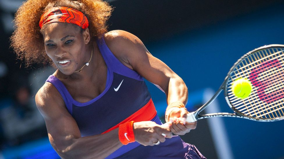 Tennis star Serena Williams is a self-described perfectionist who destroys racquets and casts blame when things go wrong – outbursts which have cost her the game (Credit: Alamy)