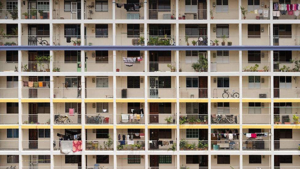 Singapore quickly had to build public housing blocks after independence (Credit: Getty Images)