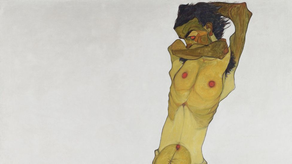 Schiele's graphic and grotesque representation of his own naked body was unprecedented in the history of art (Credit: Leopold Museum)