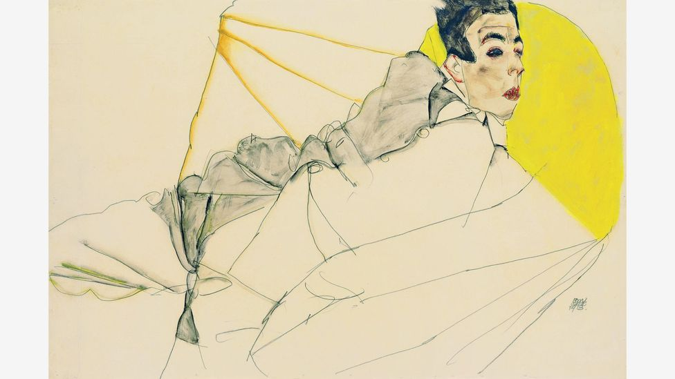 Schiele's interest in painting youths raised eyebrows and attracted the attention of the law (Credit: Leopold Museum)