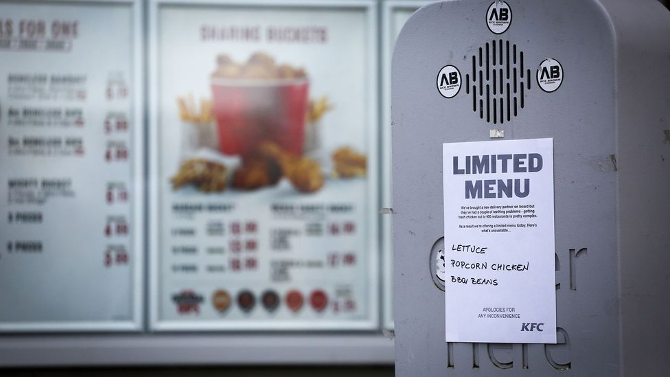 Customers take fast food seriously - last week, delivery problems caused 900 KFC restaurants in the UK to close temporarily, causing customer consternation (Credit: Getty Images)