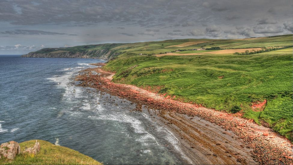 Hutton found his ideal illustration of Earth's history here at Siccar Point (Credit: John Van Hoesen)