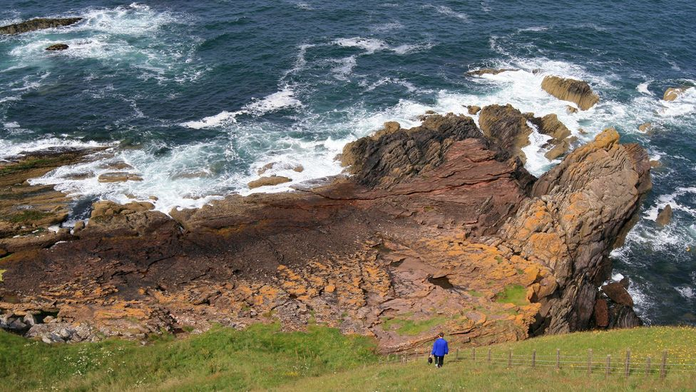 Siccar Point is one of the most important geological sites in the world – but it took a 62-year-old farmer to spot its significance (Credit: John Van Hoesen)