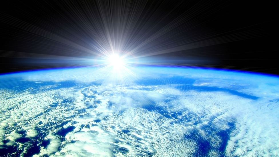 Earth with Sun rising (Credit: Alamy)