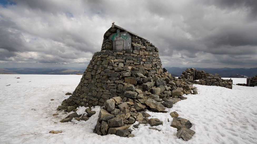 From 1883 to 1904, a few hardy individuals lived year-round in a small stone hut, making hourly recordings of the weather atop Ben Nevis (Credit: AJSmountains/Alamy)