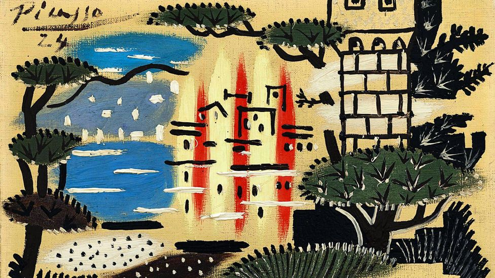 Picasso's view of Juan-les-Pins (Credit: Sotheby's)