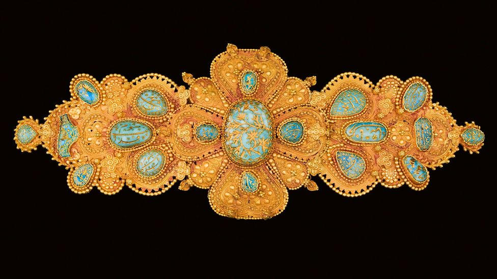 The Rose Empire exhibition has borrowed works from over 400 museums and private collections – including this ornate buckle (Credit: Museum of Islamic Art, Doha/Samar Kassab)