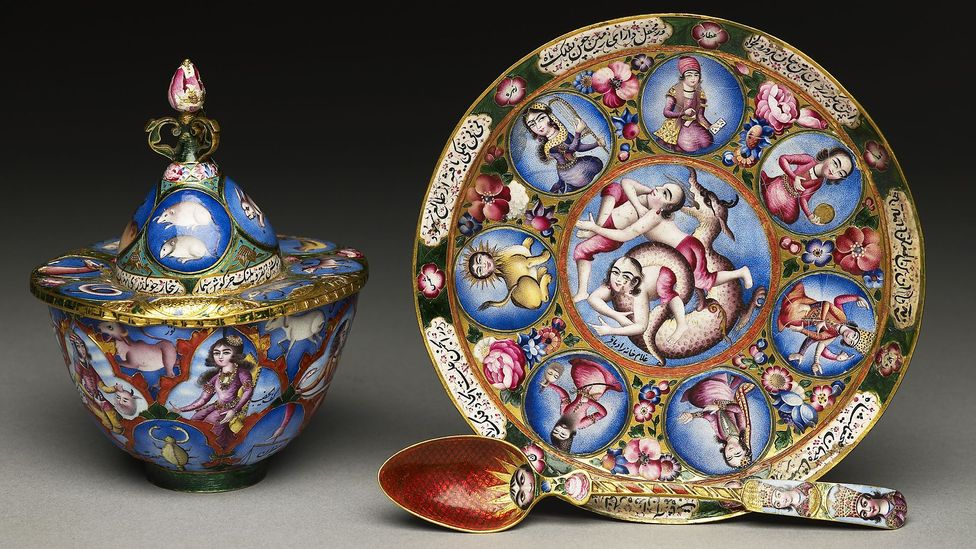 Some consider art of the Qajar era to be kitsch and over-the-top (Credit: Ashmolean Museum, University of Oxford)