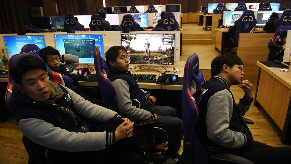 Chinese students in an eSports class at a technical school in January. There is a drive to train future eSport champions to tap into the booming industry (Credit: Getty Images)