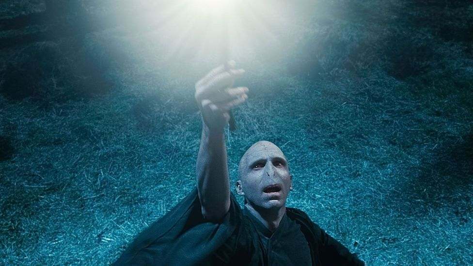 The Harry Potter books don't shy away from darker issues, creating a Nietzschean villain in Lord Voldemort (played by Ralph Fiennes in the films) (Credit: Alamy)