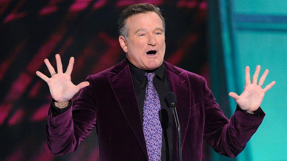 Researchers Mark Beeman and John Kounios found people who laughed at Robin Williams comedy clips were better at solving puzzles (Credit: Getty Images)