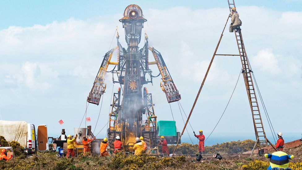 The large-scale puppetry performance The Man Engine integrates Cornish songs (Credit: Alamy)